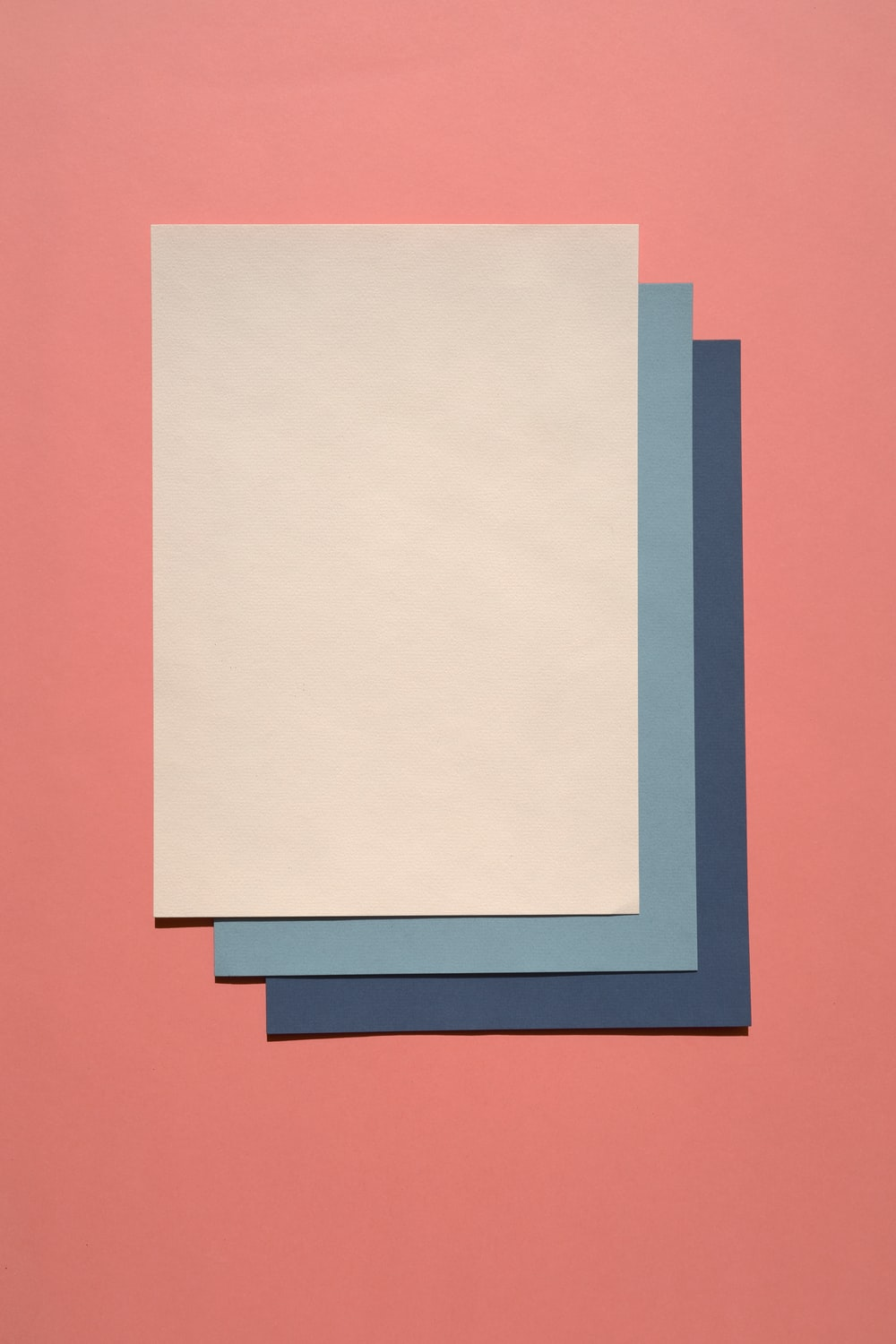 white and blue paper