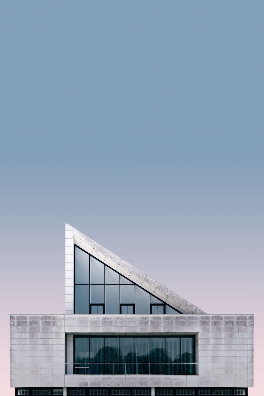 gray triangular ceiling house