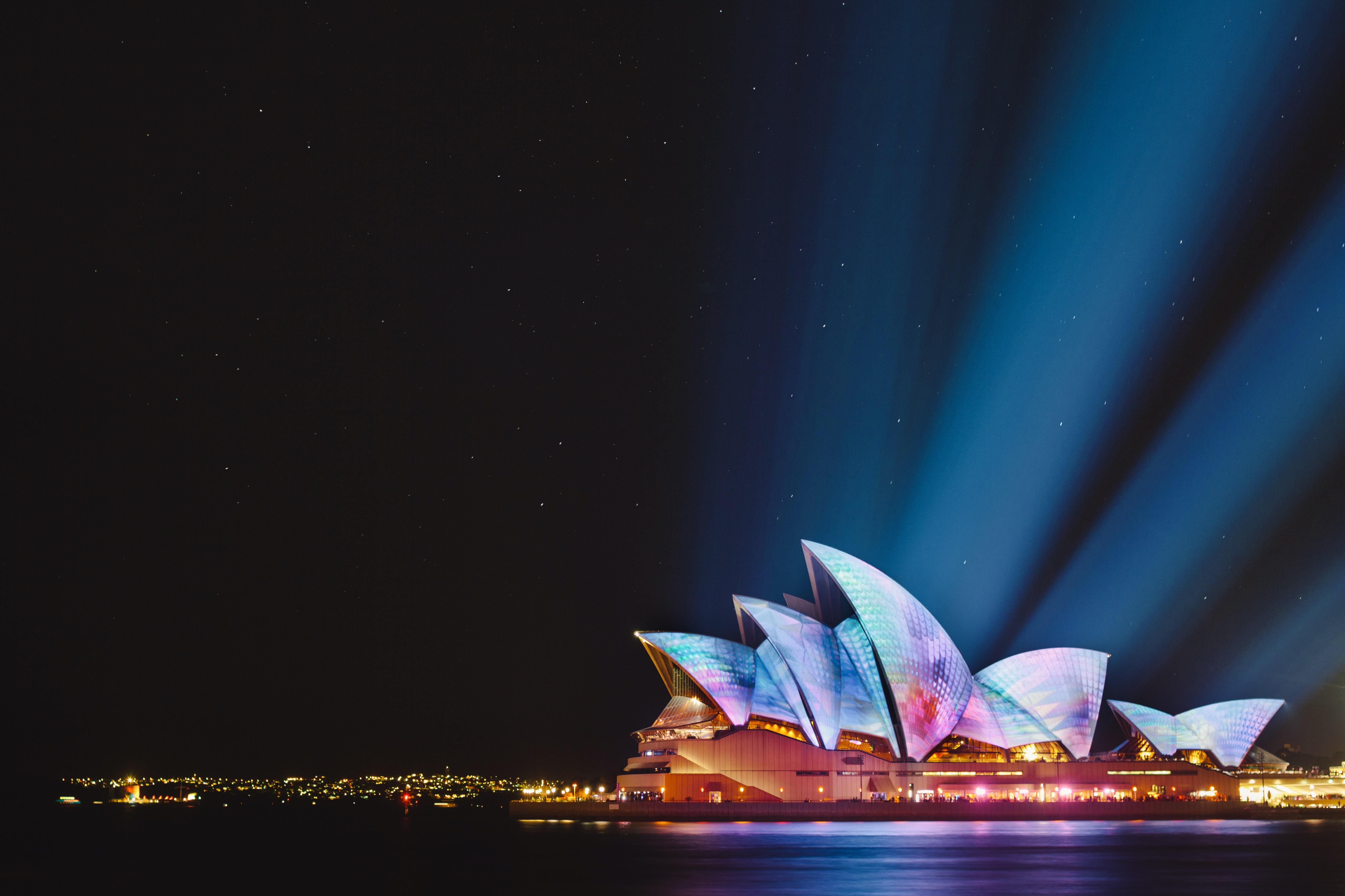 Opera House, Sydney during nighttime
