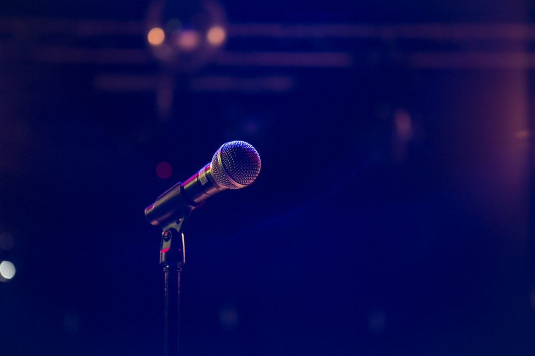 Simple microphone shot on the stage