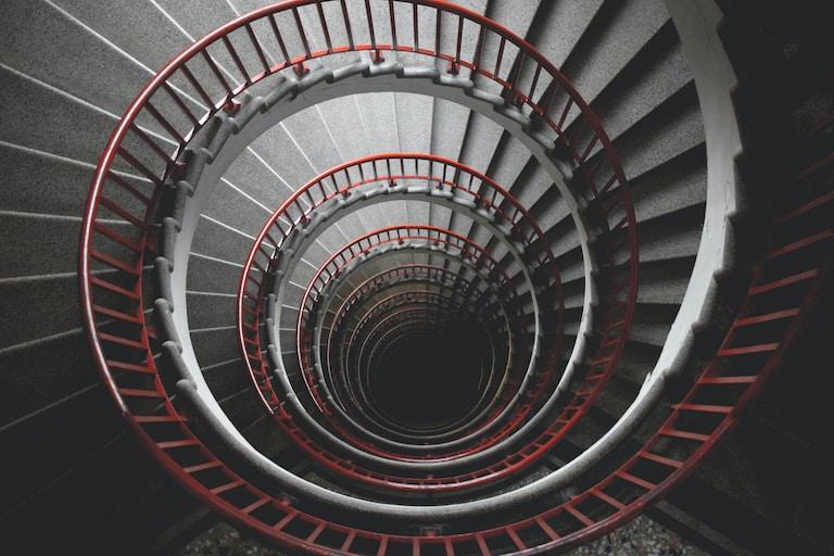 spiral concrete staircase