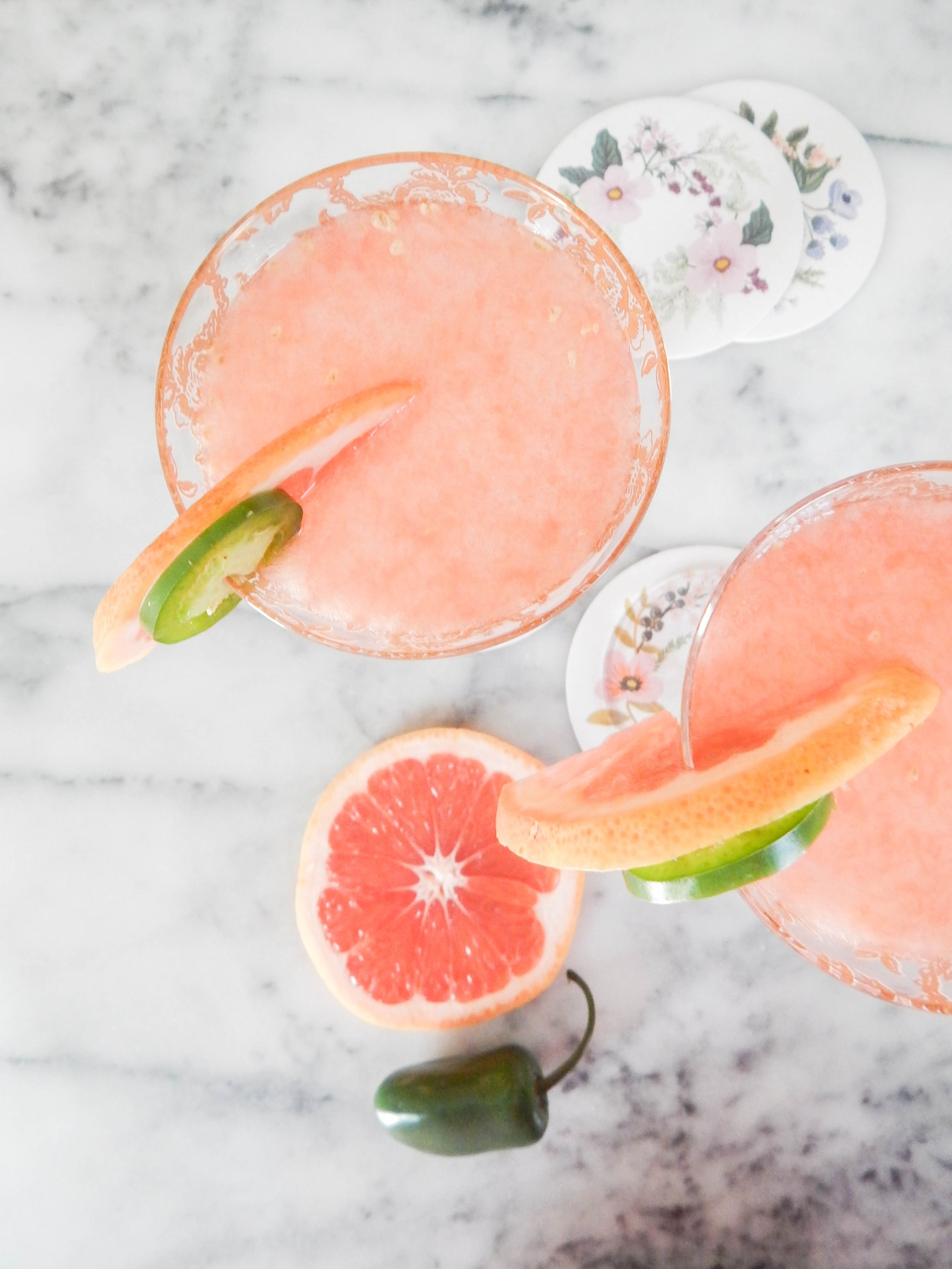 This cocktail is summer in a glass: a little hot and a whole lot of fresh!