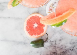 two pomelo juices