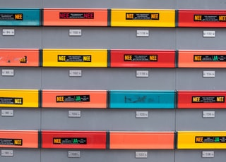 assorted-color file cabinet tags