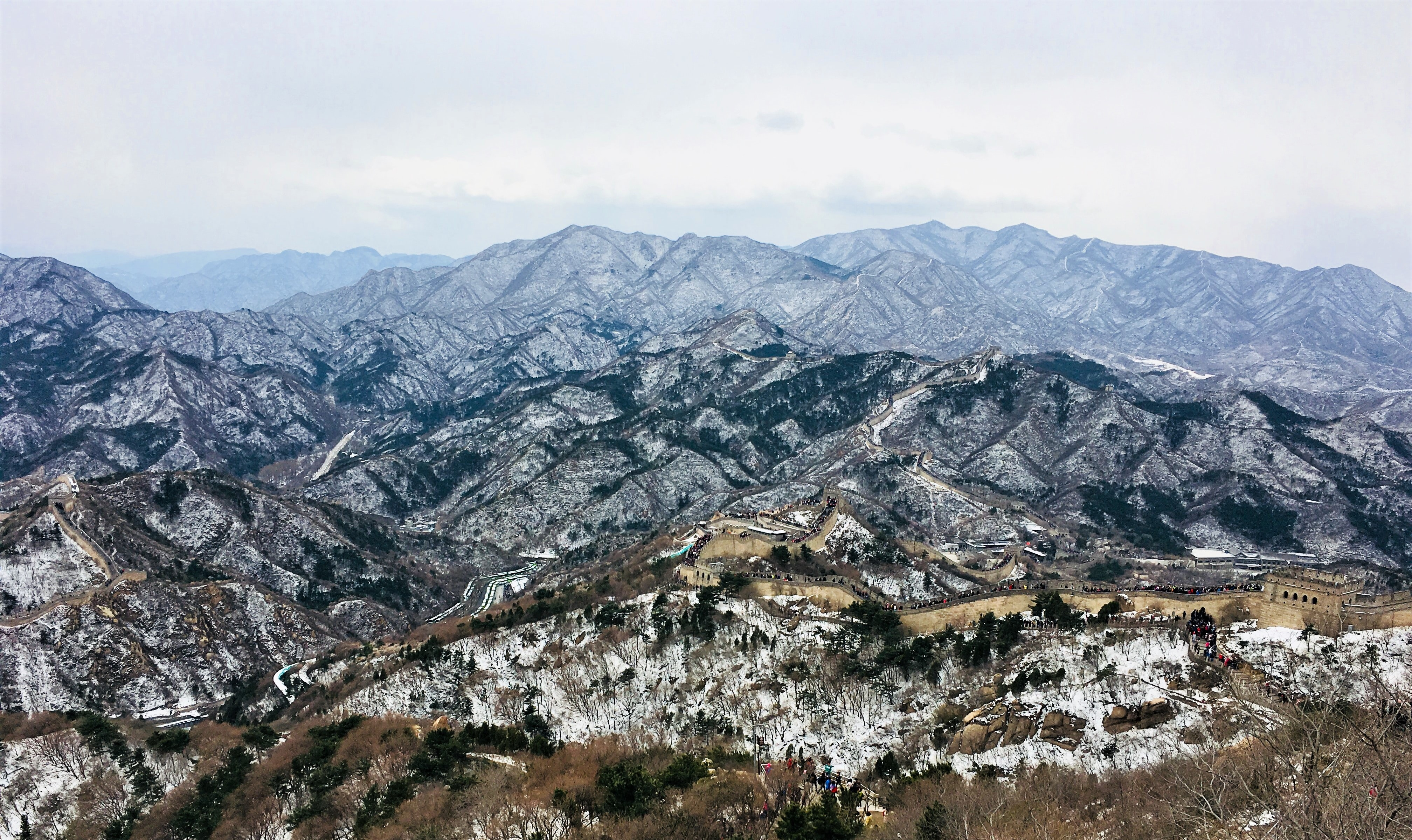 bird's-eye view of mountains