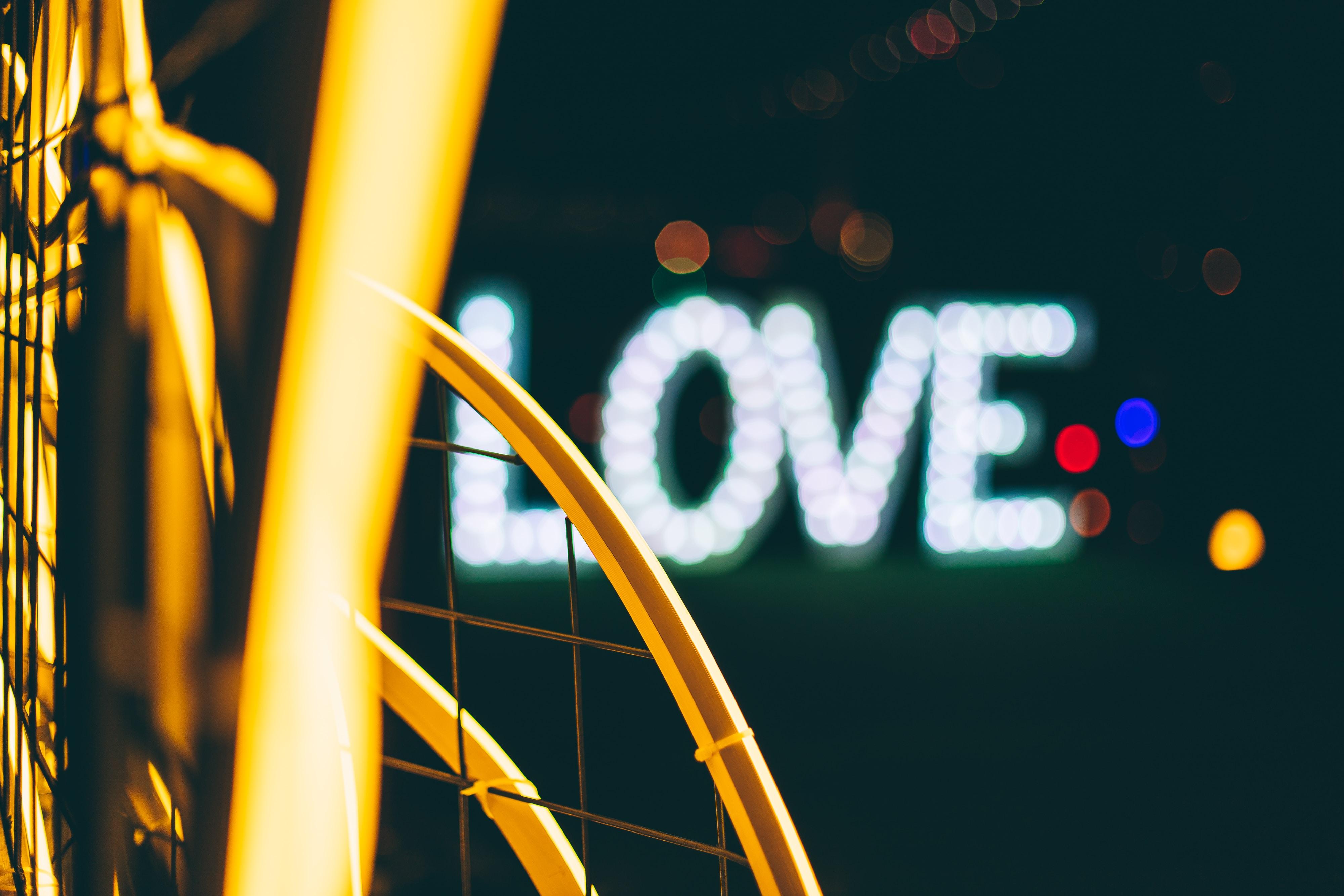 photo of love bokeh light