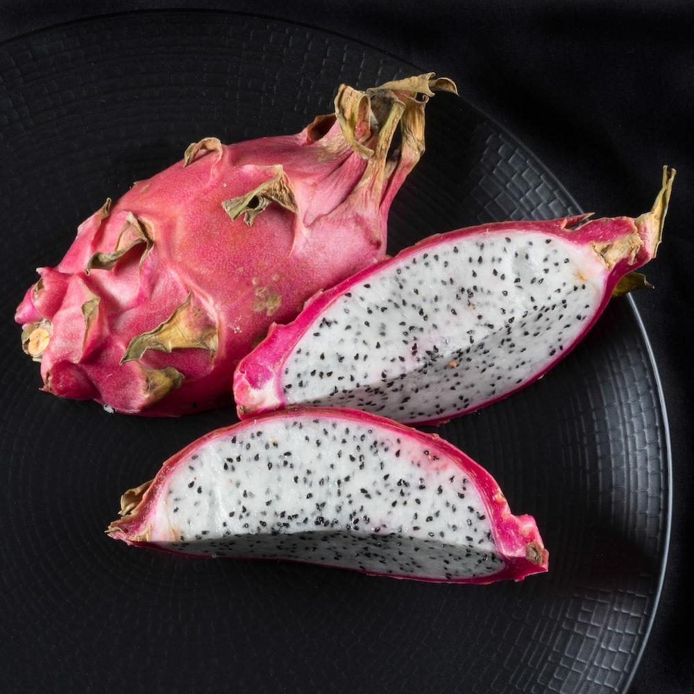 sliced dragon fruits