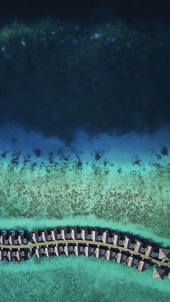 Aerial shot, Maldives.