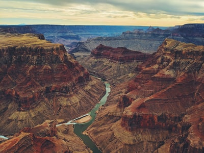 aerial photography of mountain grand canyon zoom background