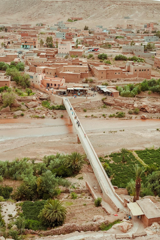 bird's-eye view photography of bridge