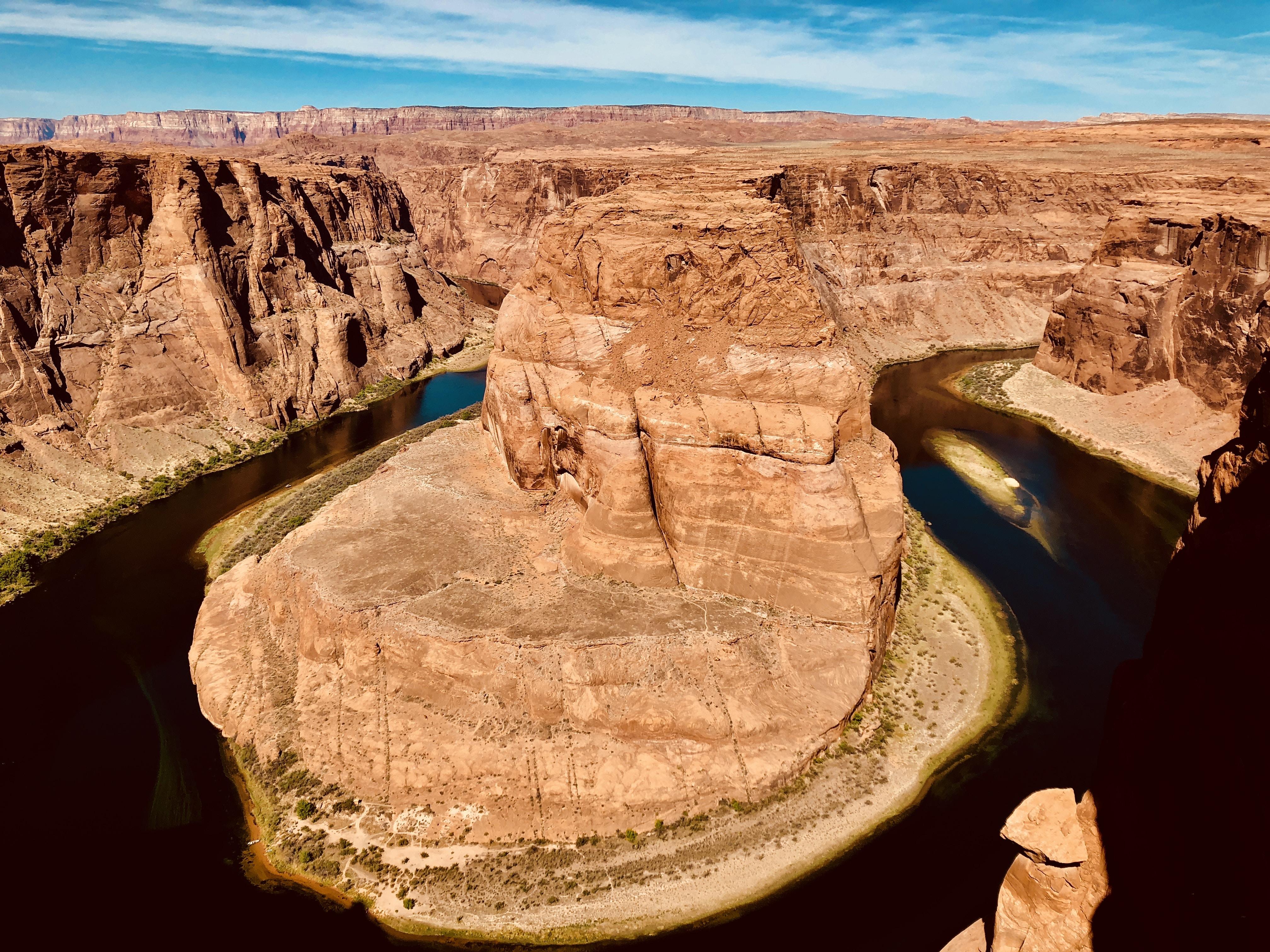 bird's eye view of Horseshoe Bend, Arizona