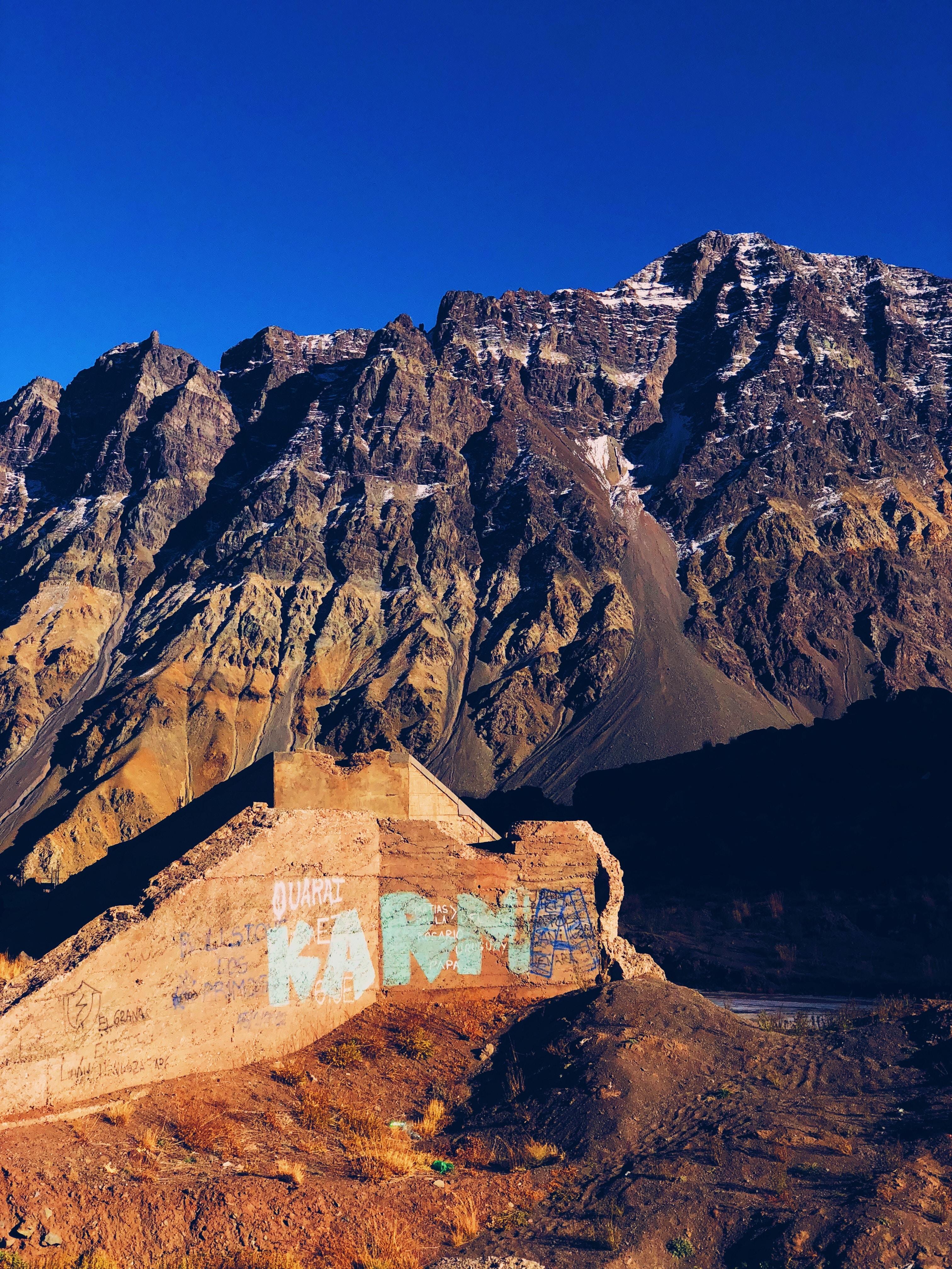brown and orange mountain
