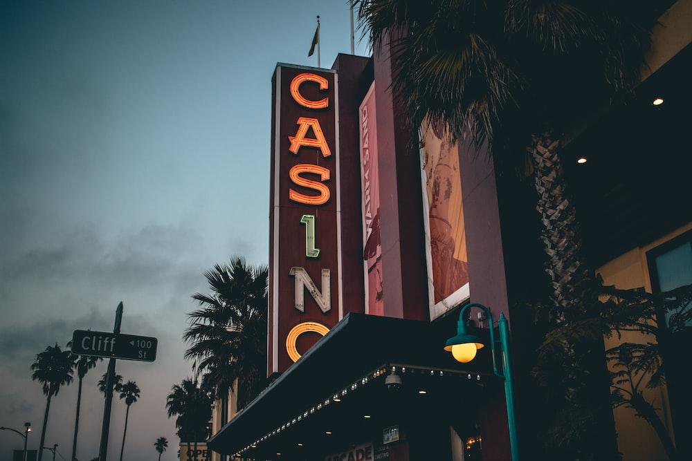 Casino marquee signage