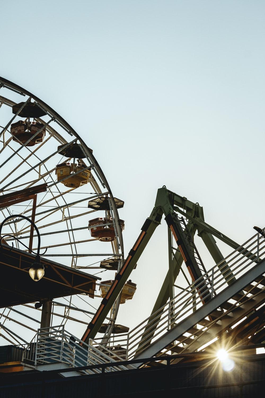 worm's-eye view photo of amusement ride