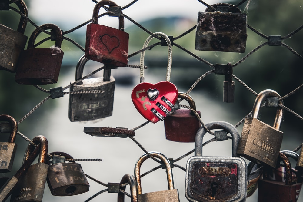 padlocks on fence during daytime