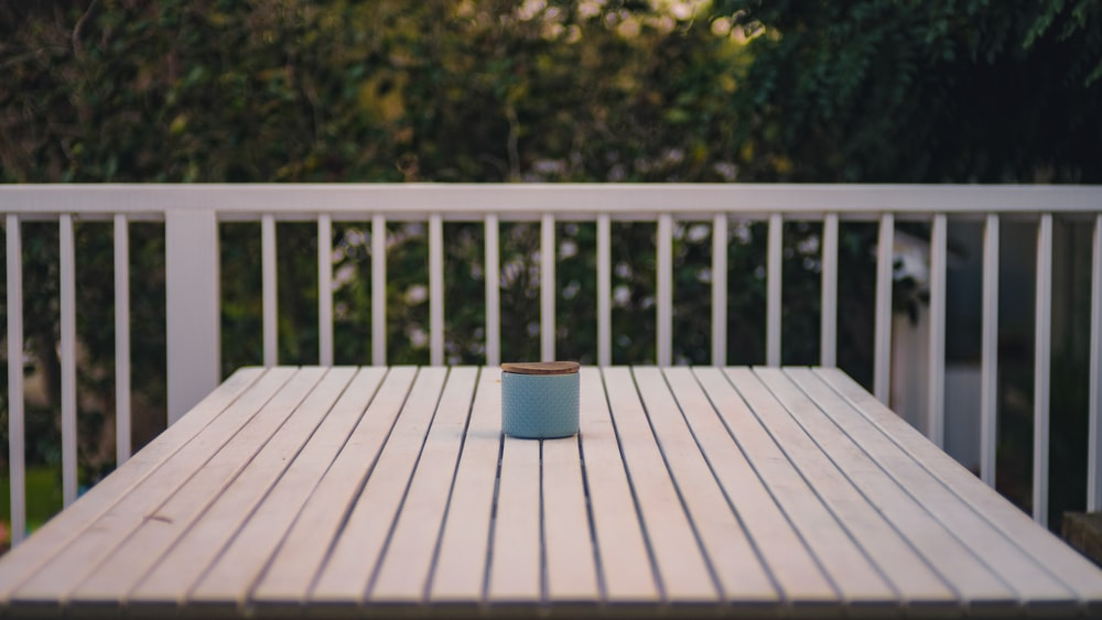 square white wooden table