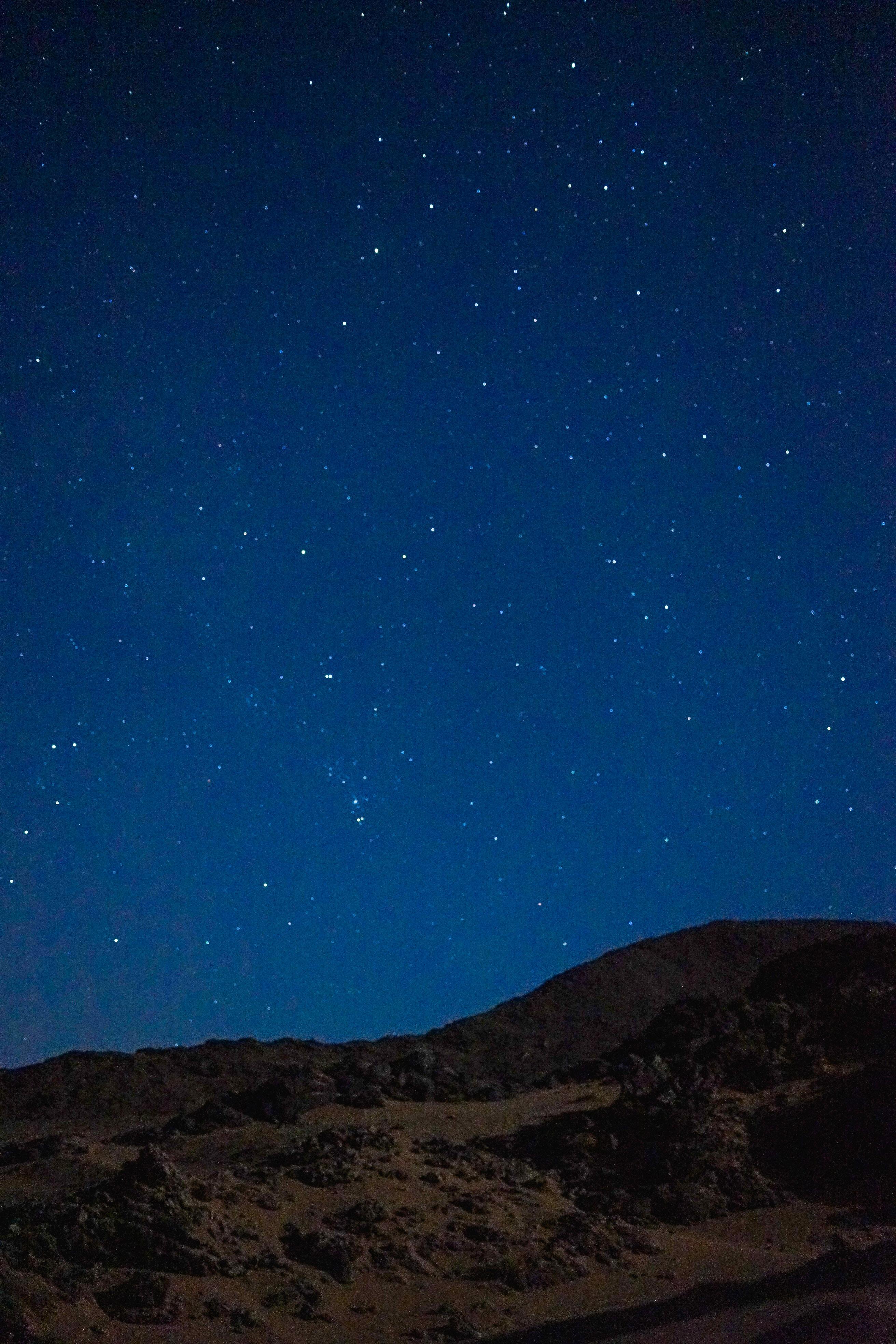dessert under cluster of stars