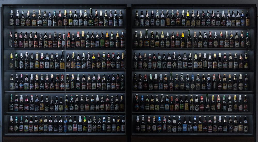 assorted-label liquor bottle lot