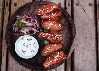 savory chicken on plate