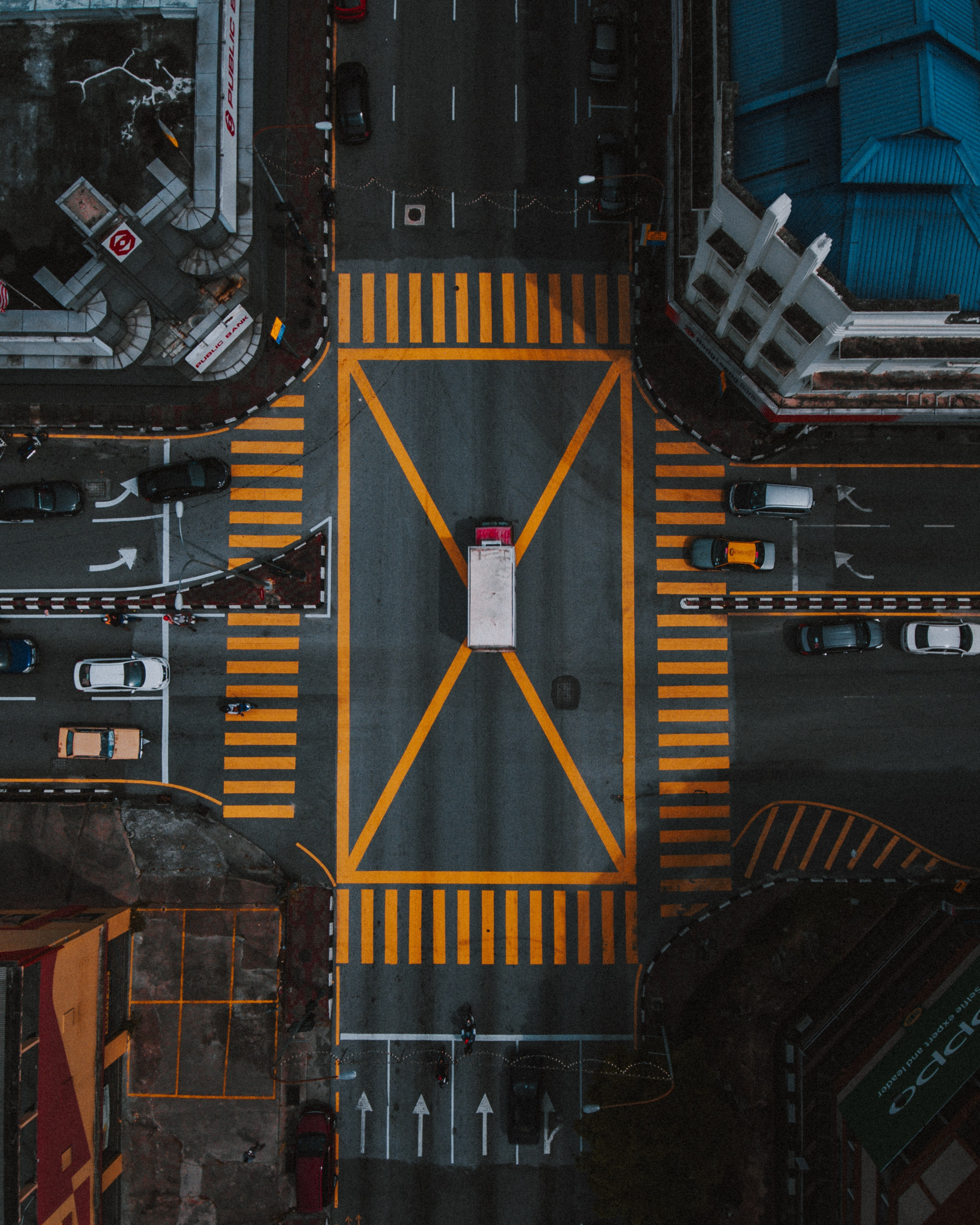 aerial photography of intersection