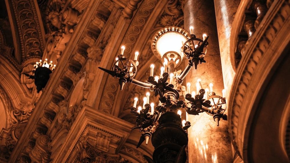 light fixture inside building