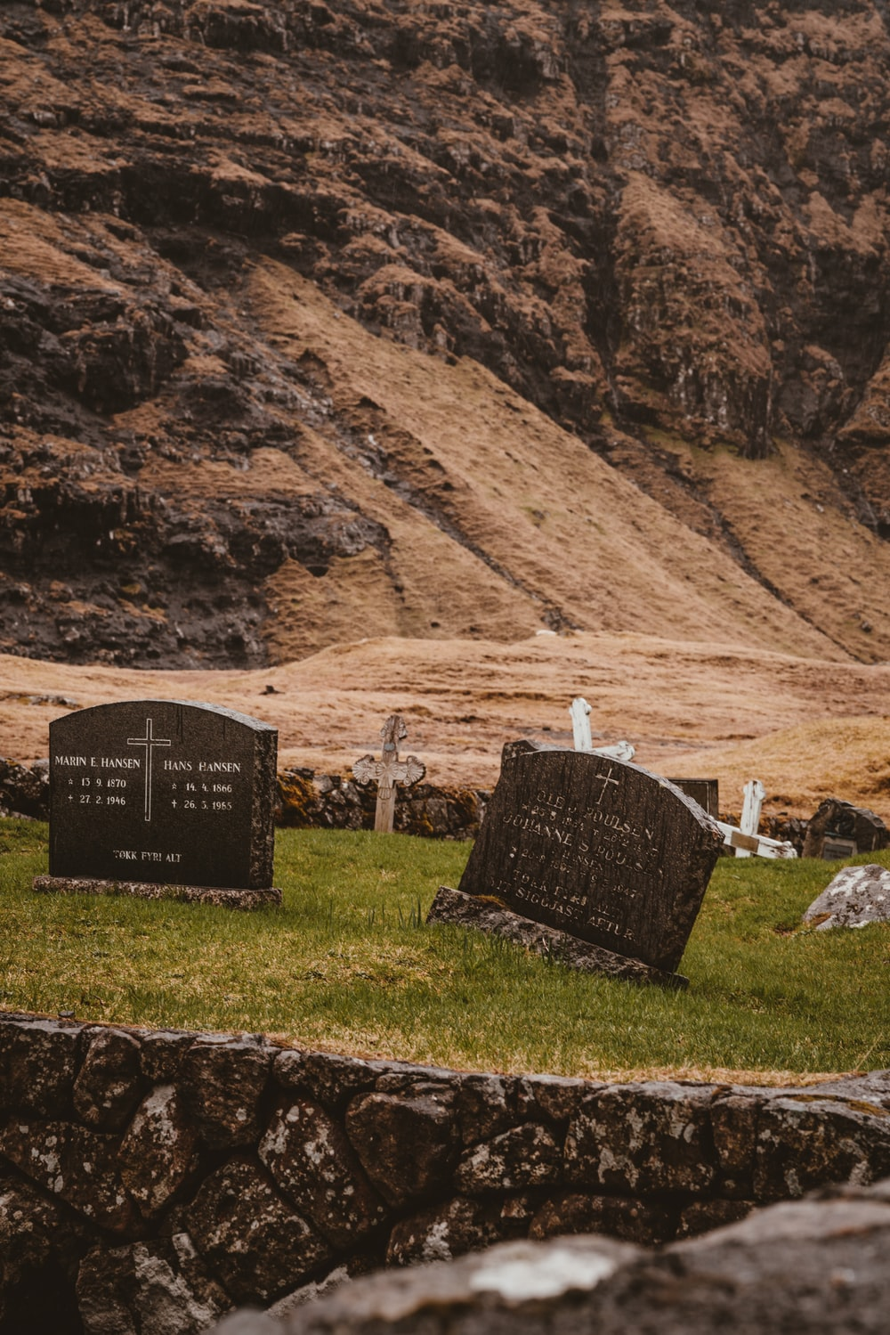photo of two tombstones