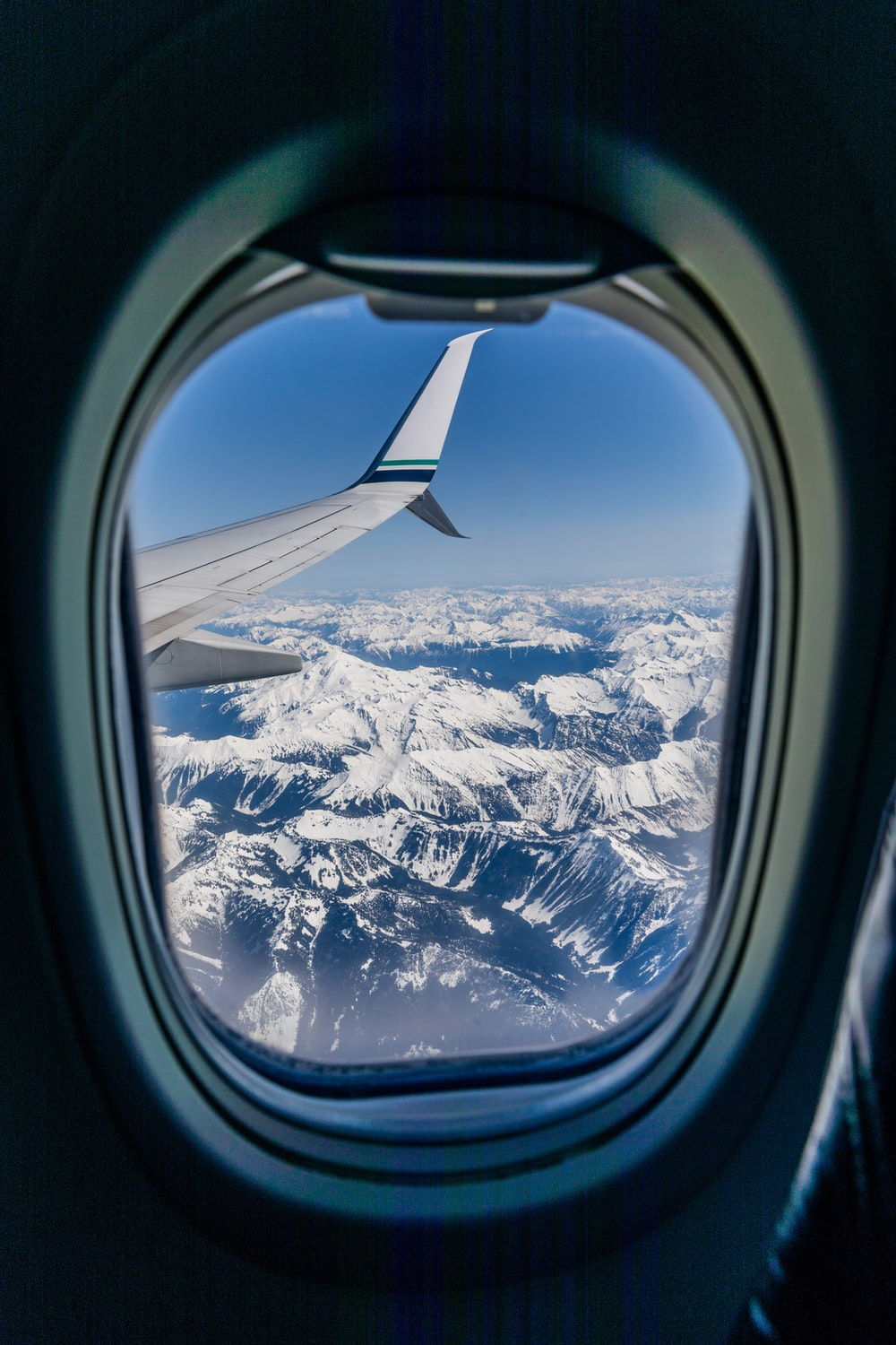 aerial view photography of mountains from airplane