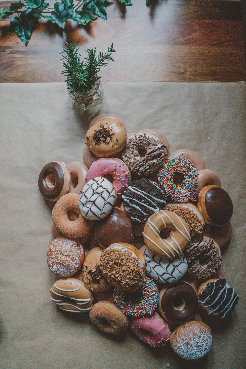 variety flavor of doughnuts