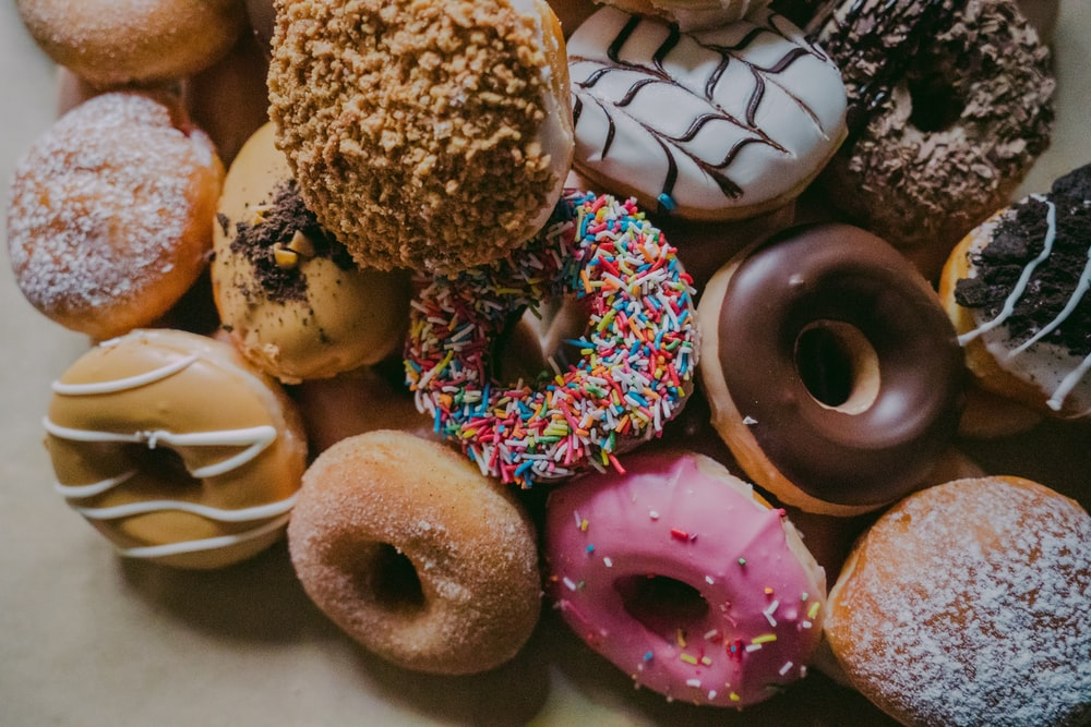 assorted flavor donuts