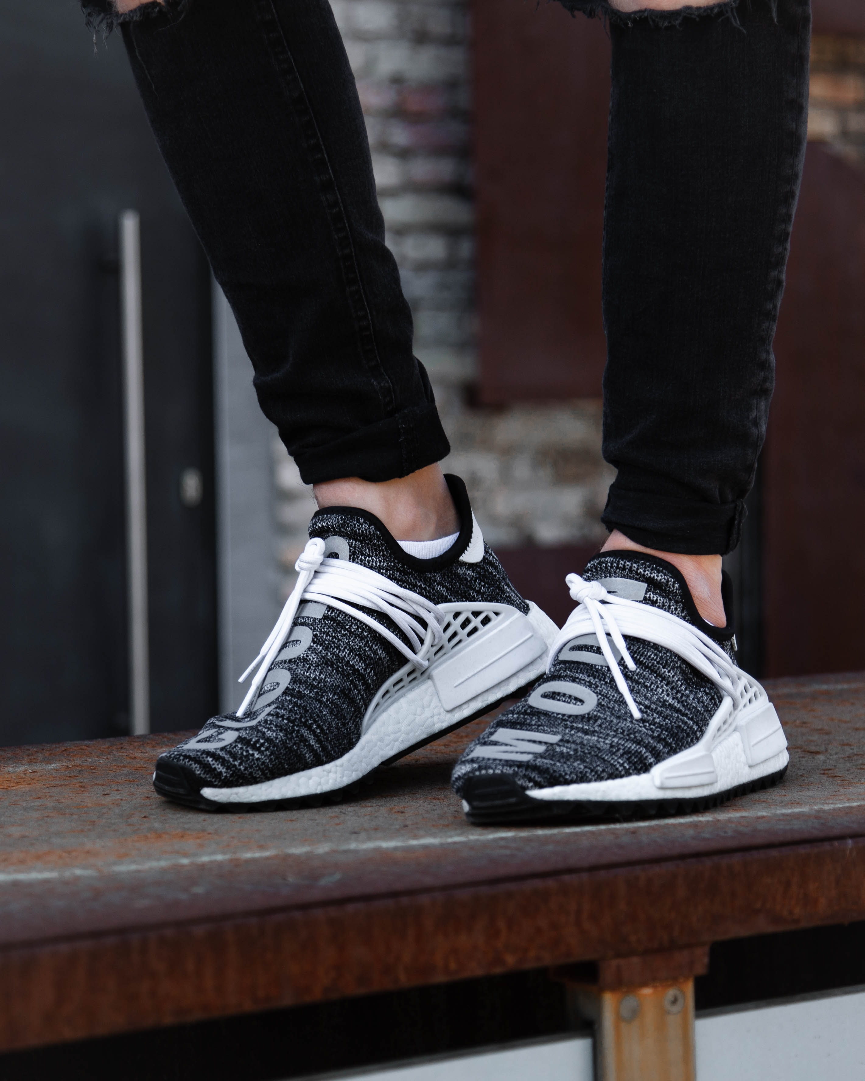 person wearing running shoes