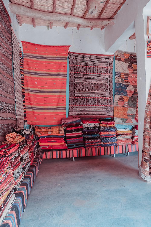 assorted-color floral cloth lot