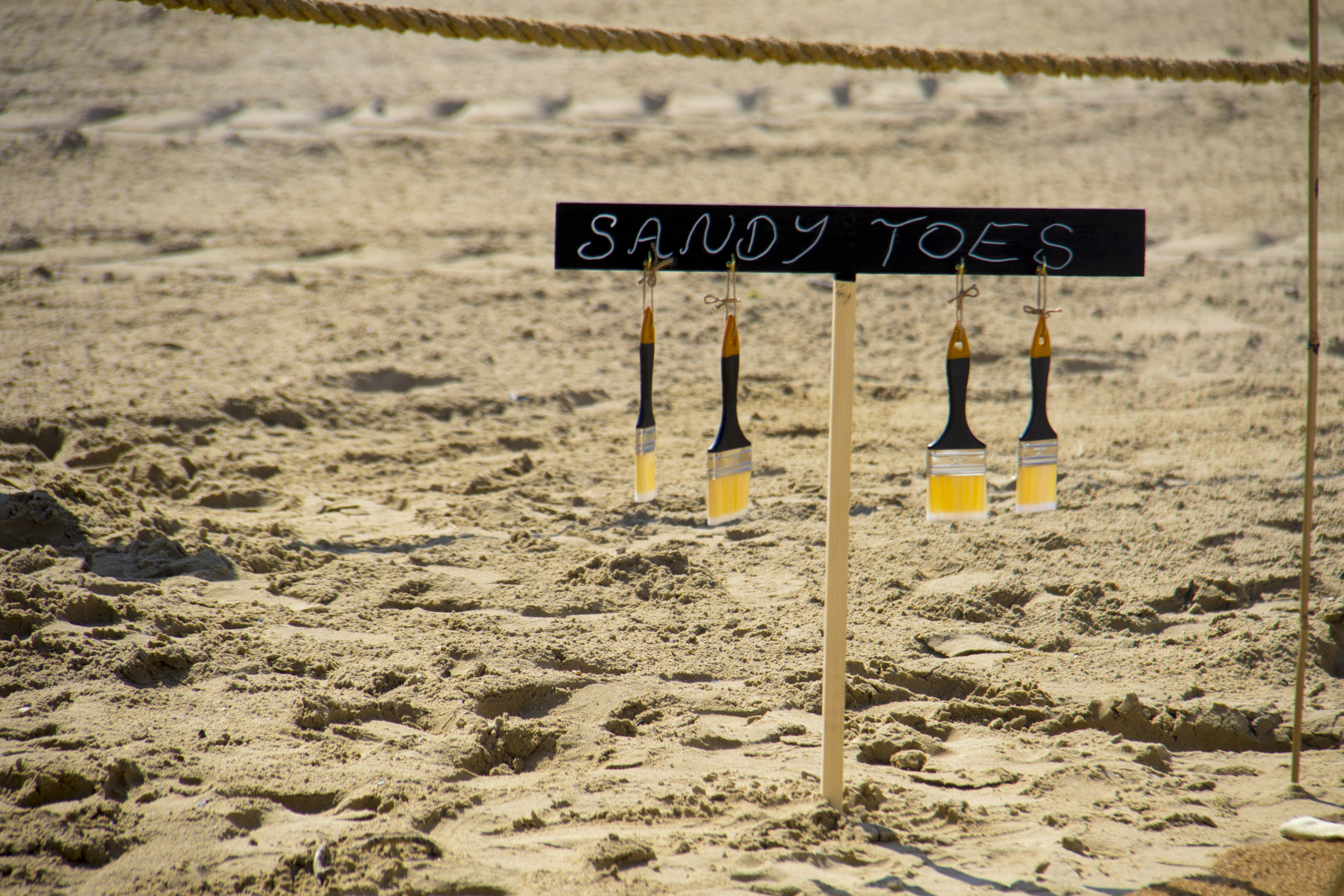 Sandy Toes paint brush