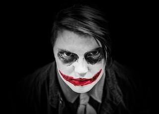 man portraying The Joker