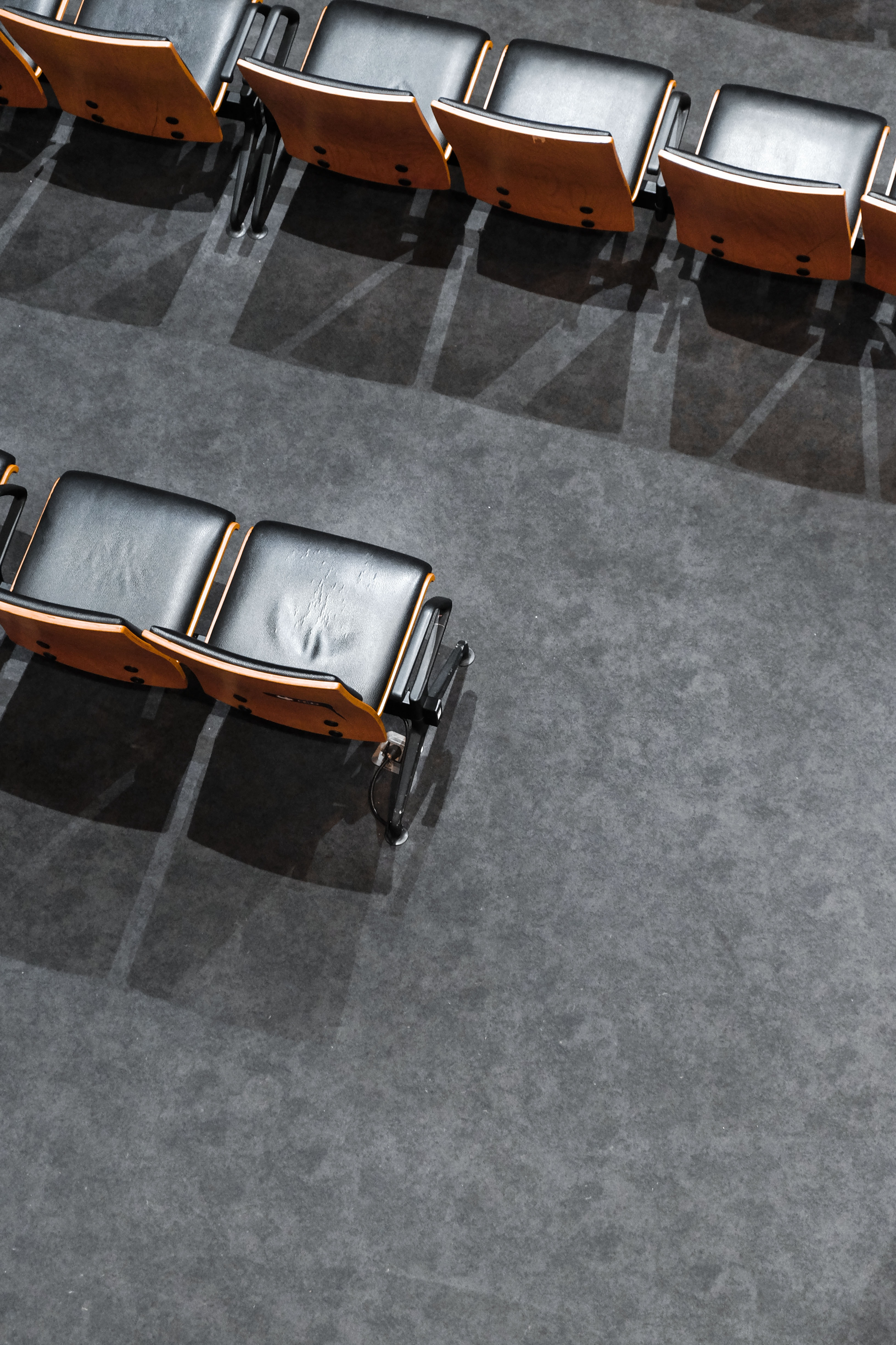 top view photograph of chairs