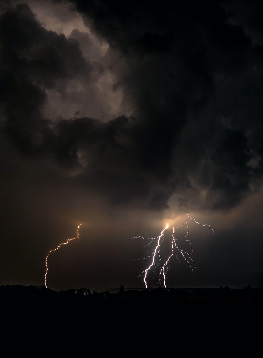 time lapse photography of lightning during storm