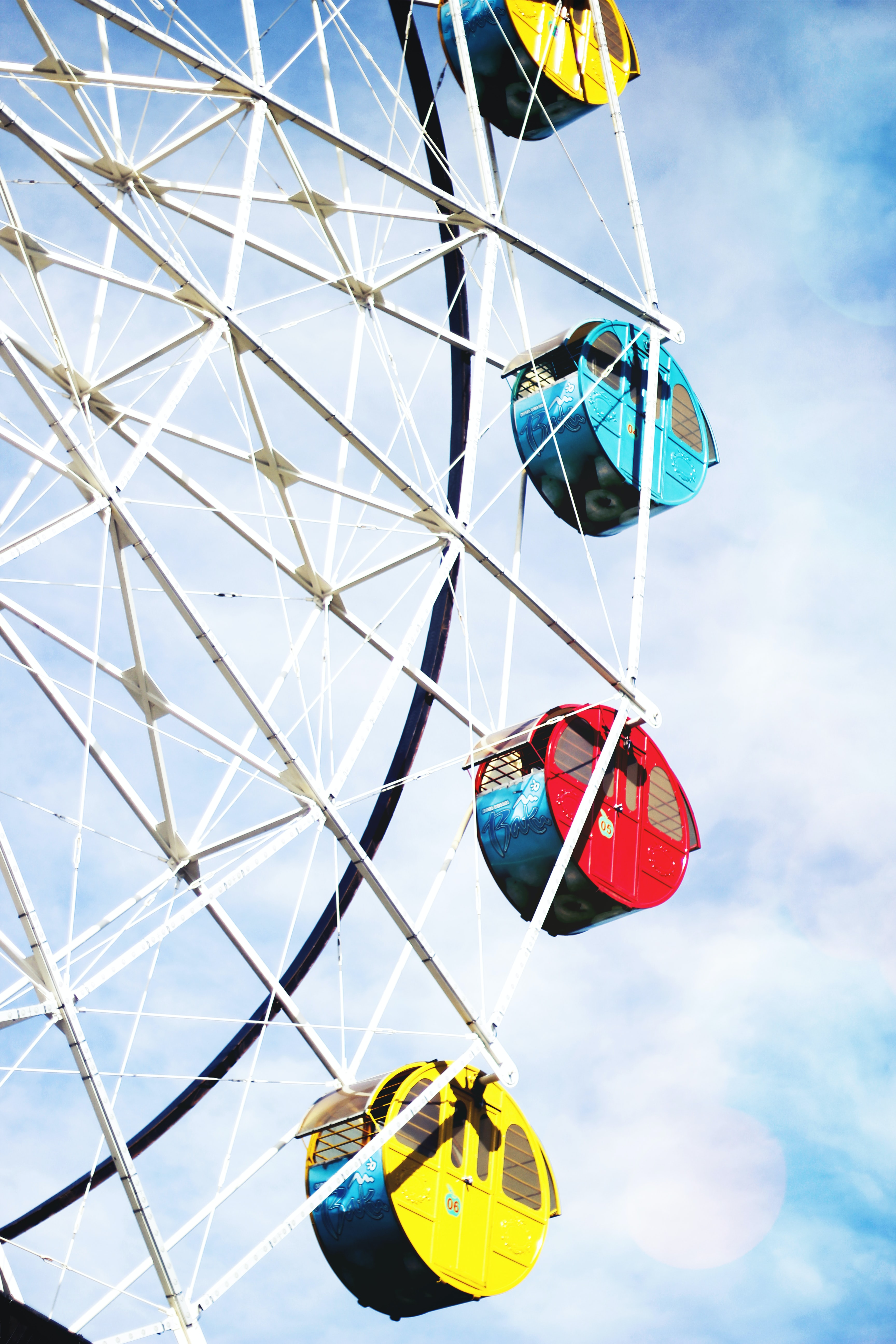 worm's-eye view photography of ferris wheel