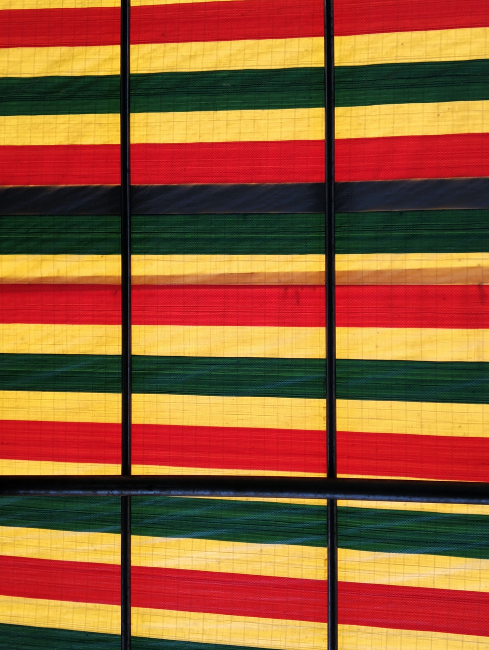 yellow and multicolored fabric sheet