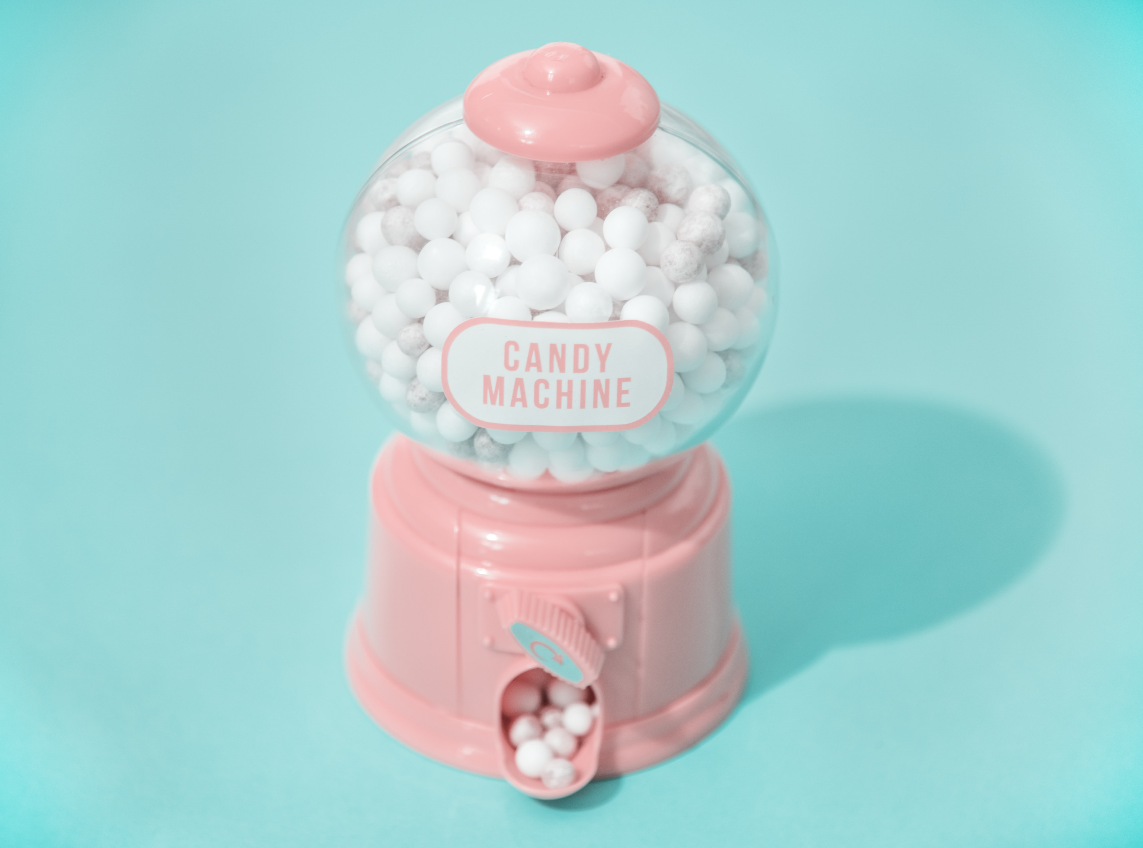 candy machine dispensing acandy
