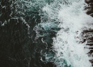 ocean waves by the seashore