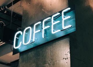 white Coffee LED signage