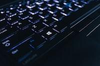 black computer keyboard