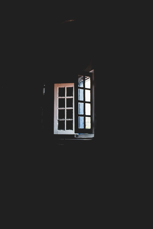 white window pane