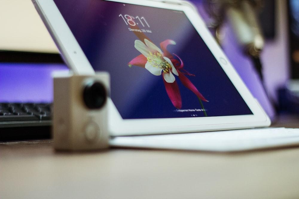photo of white iPad