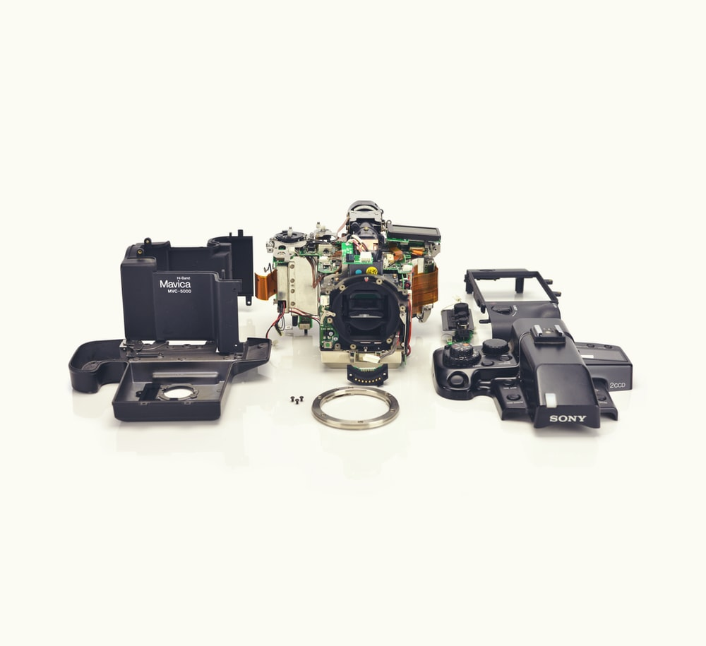 three assorted electronic components