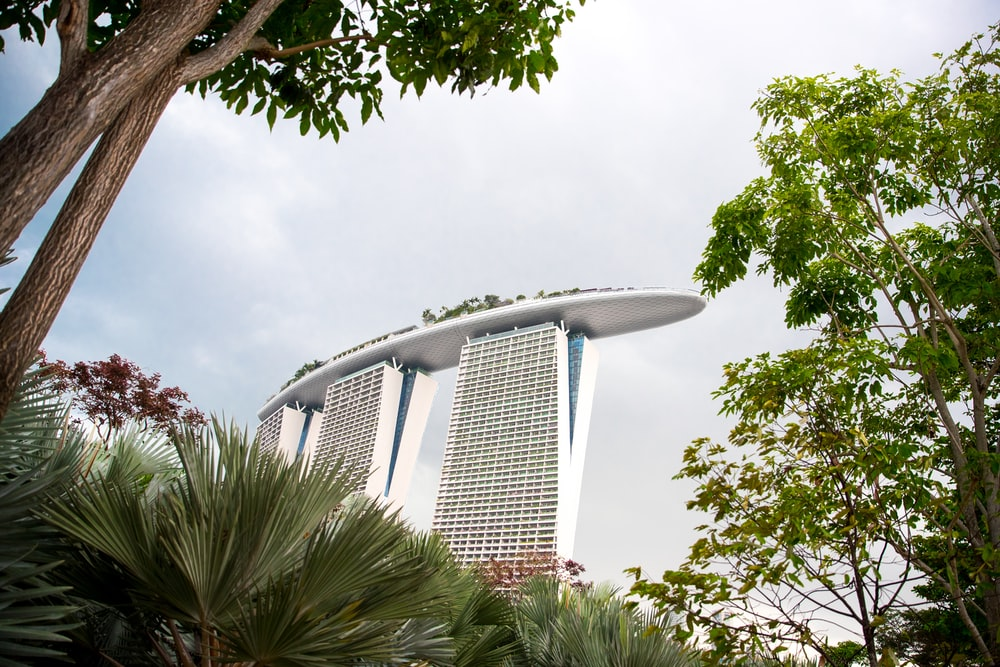 Marina Bay Sands, Singapore hotel during daytime