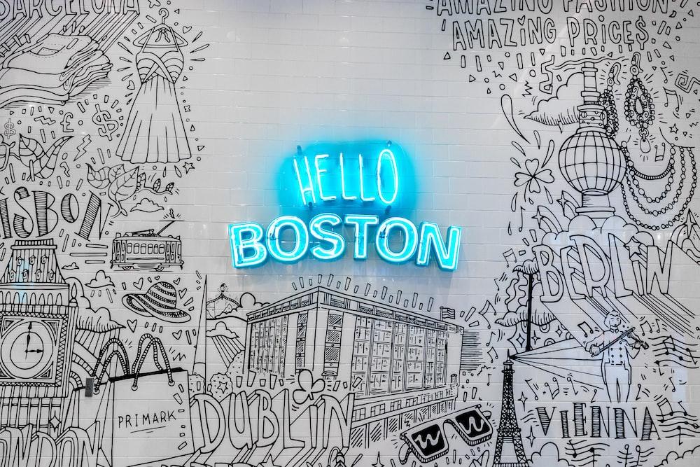 Hello Boston illustration