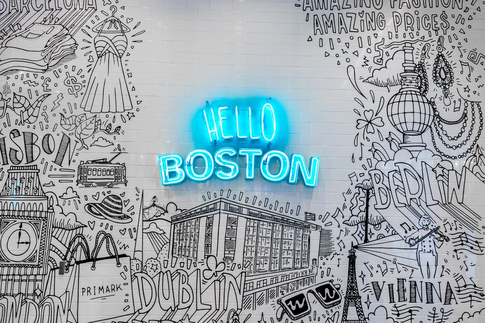 Hello Boston illustration