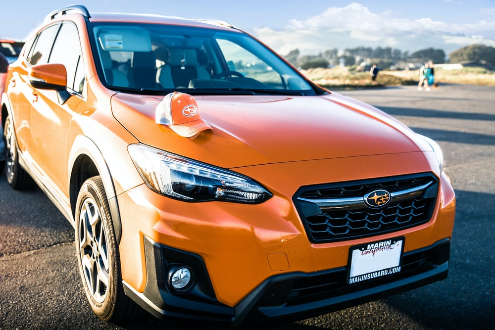 orange Subaru SUV