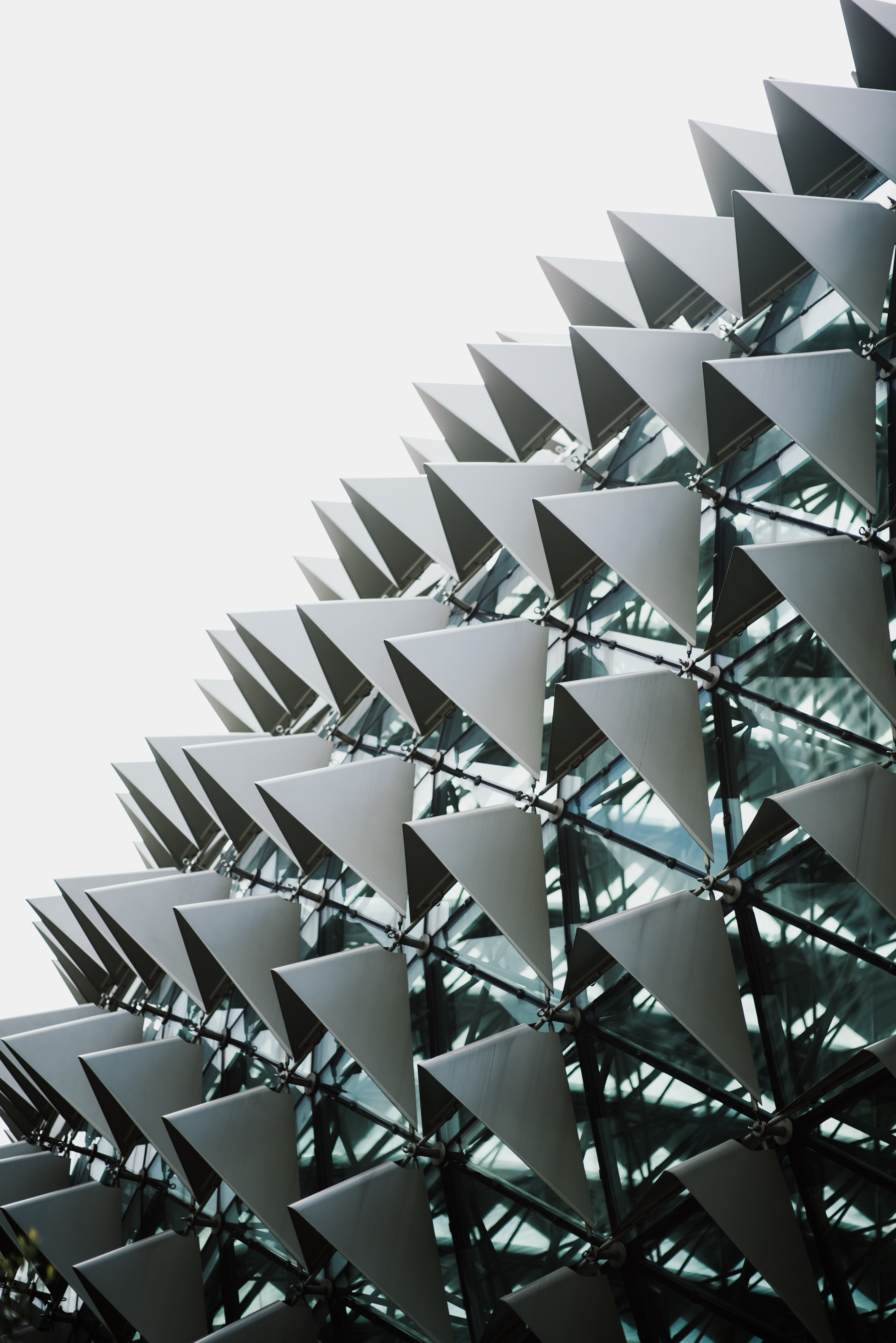 architectural photography of building with glass panels