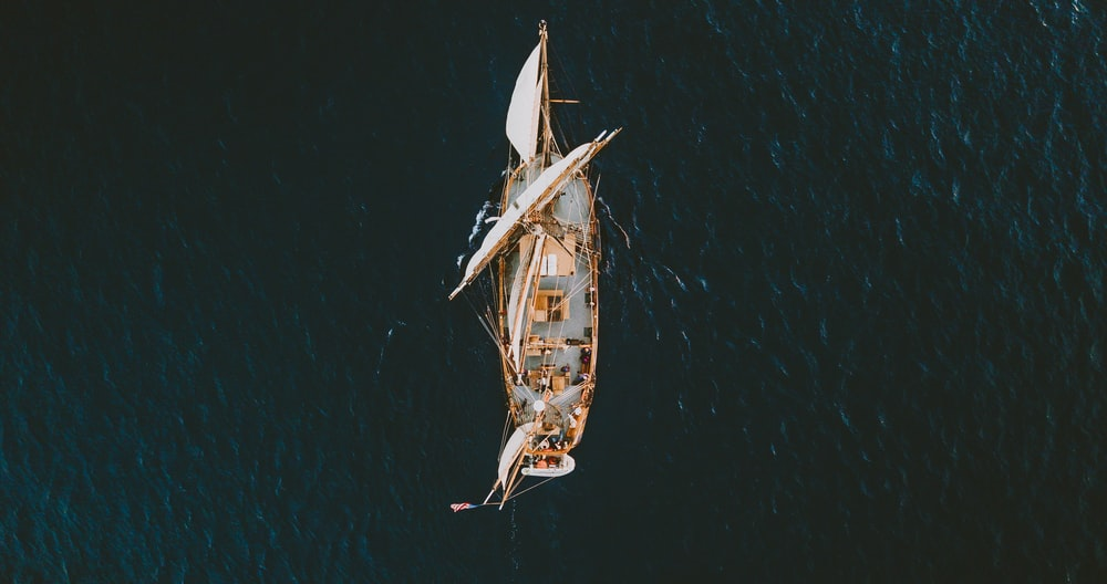 aerial view photography of ship on body of water